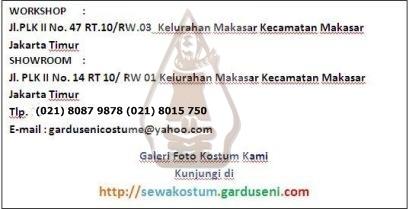 Tempat Sewa Kostum di Jakarta