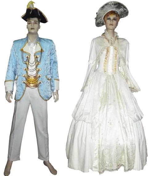 Kostum eropa victorian gardu seni pusat sewa baju dan pakaian