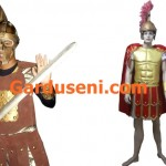 kostum gladiator tentara romawi spartan