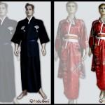 kostum kimono yukata jepang
